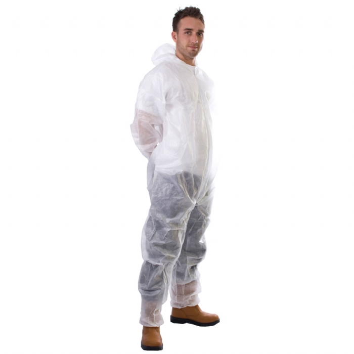 Disposable Coverall in White