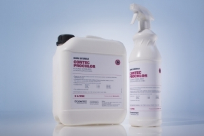 Contec ProChlor is a ready to use sporicidal biocide based on stabilised hypochlorous acid and is specifically designed for cleanroom environments
