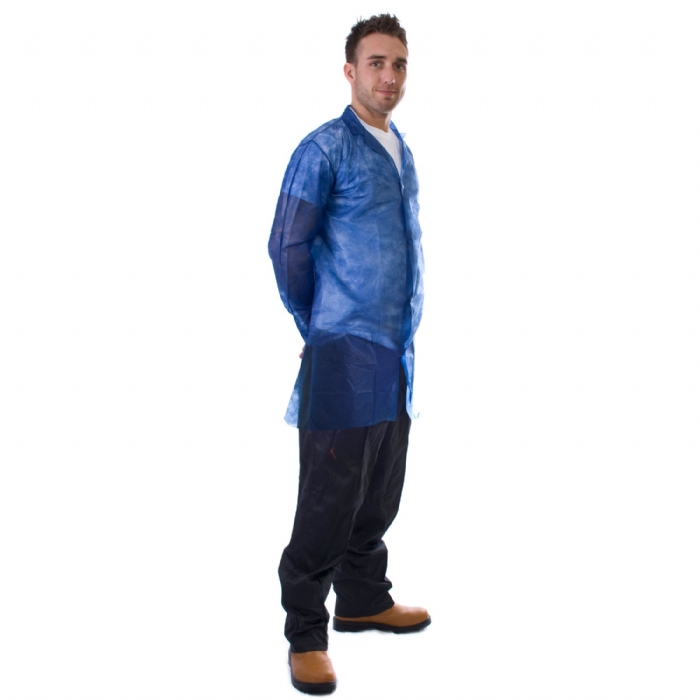 Cheap Disposable Visitor Coat in Blue