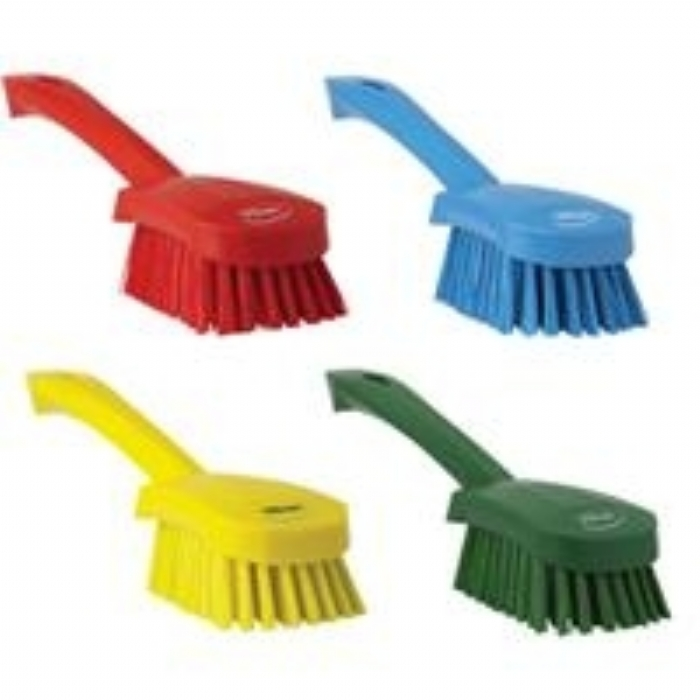 4192 Vikan Hygienic Short Handle Stiff Bristle Washing Brush