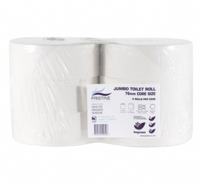 53929 Pristine Small Roll Jumbo Toilet Tissue