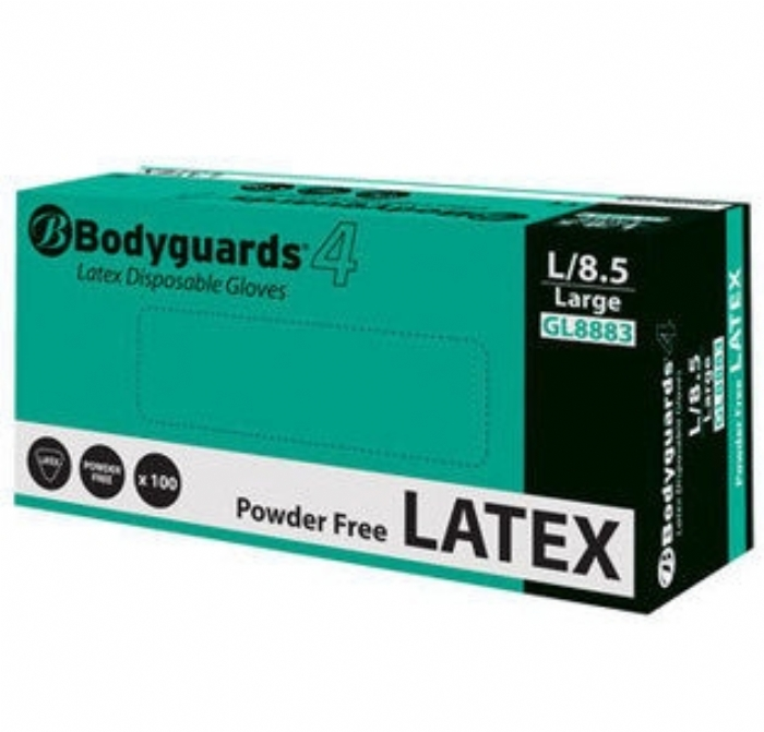 GL888 Bodyguards 4 Latex Powder Free Gloves