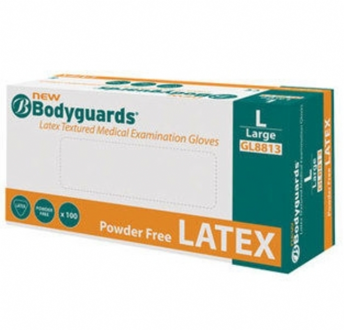 GL881 Bodyguards New Latex Powder Free Gloves