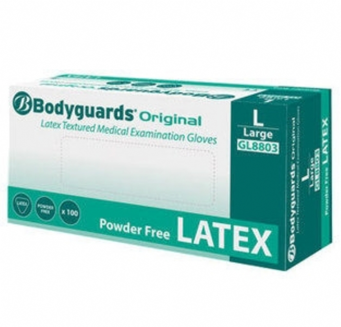 GL880 Bodyguards Original Latex Powder Free Gloves