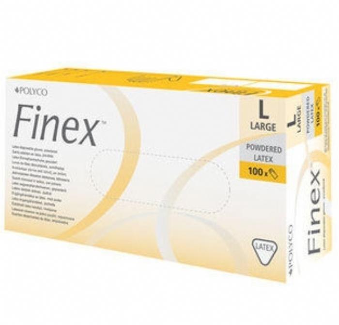 LMPF100 Finex Powder Free Medical Latex Gloves
