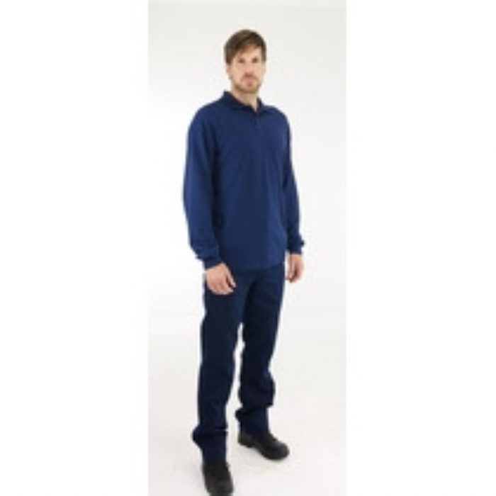 BlazeTEK Flame Resistant Anti-Static Protal Long Sleeve Polo Shirt