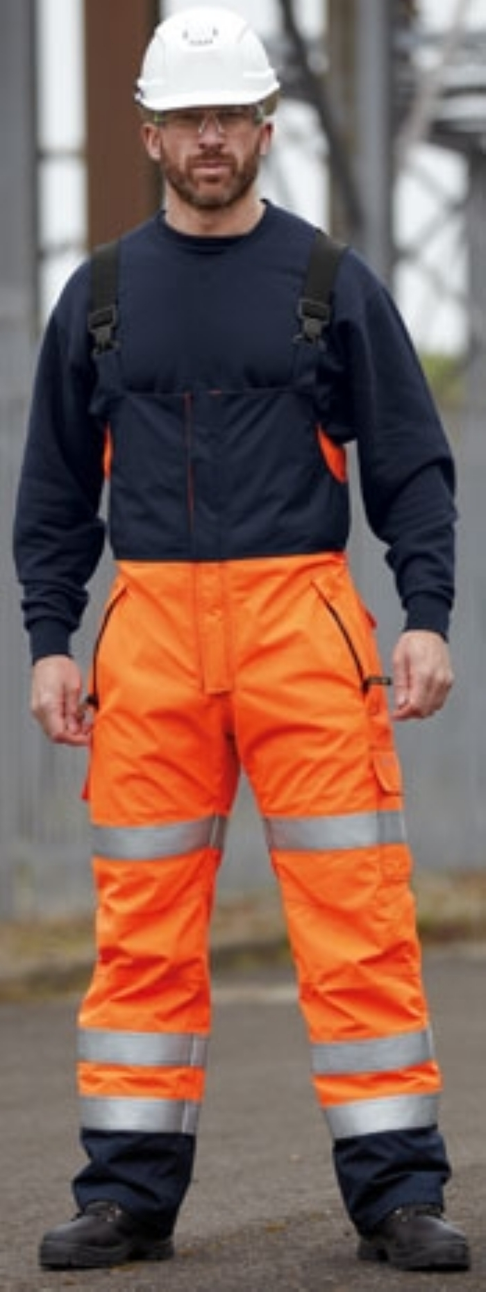 Roots Full Option Waterproof Trousers - Orange/Navy