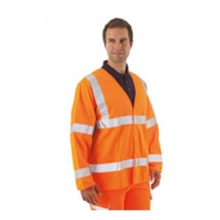BlazeTEK EN 471 Flame Retardant High Visibility Long Sleeve Waistcoat