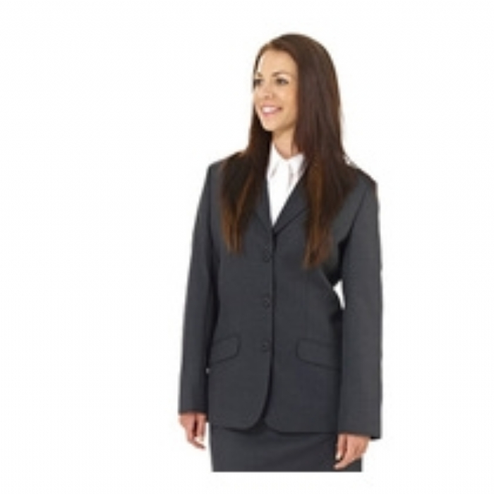 Ladies Bankside Polywool Suit Jacket - Charcoal Grey Size 8-20