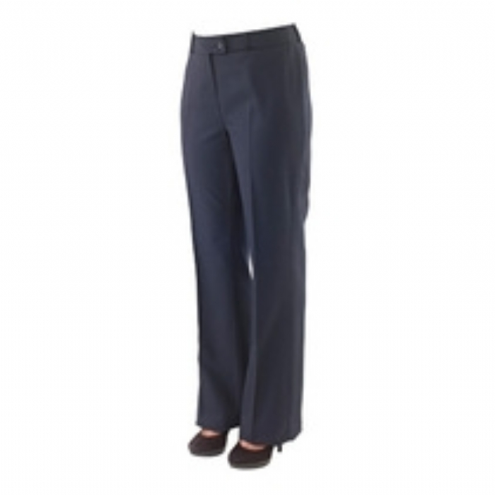 Ladies Chelsea Polywool Suit Flared Trousers - Navy Size 8-20
