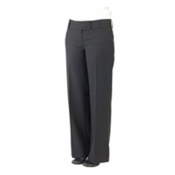 Ladies Brompton Polywool Suit Flared Trousers Charcoal Grey Size 8-20