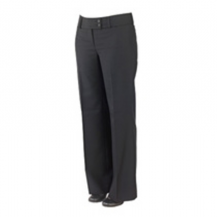 Ladies Brompton Polywool Suit Flared Trousers Black Size 8-20