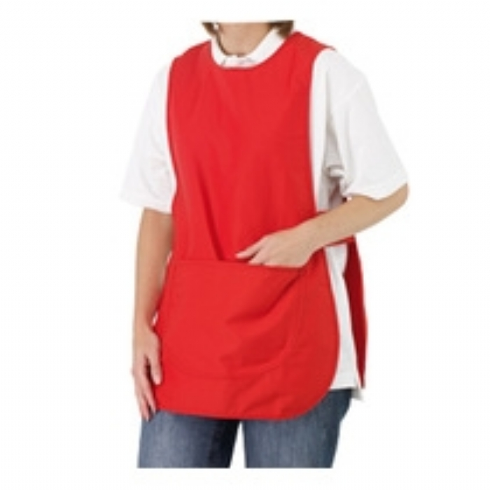 Ladies Polycotton Tabard - RED Size:10/12 14/16 18/20 20/22