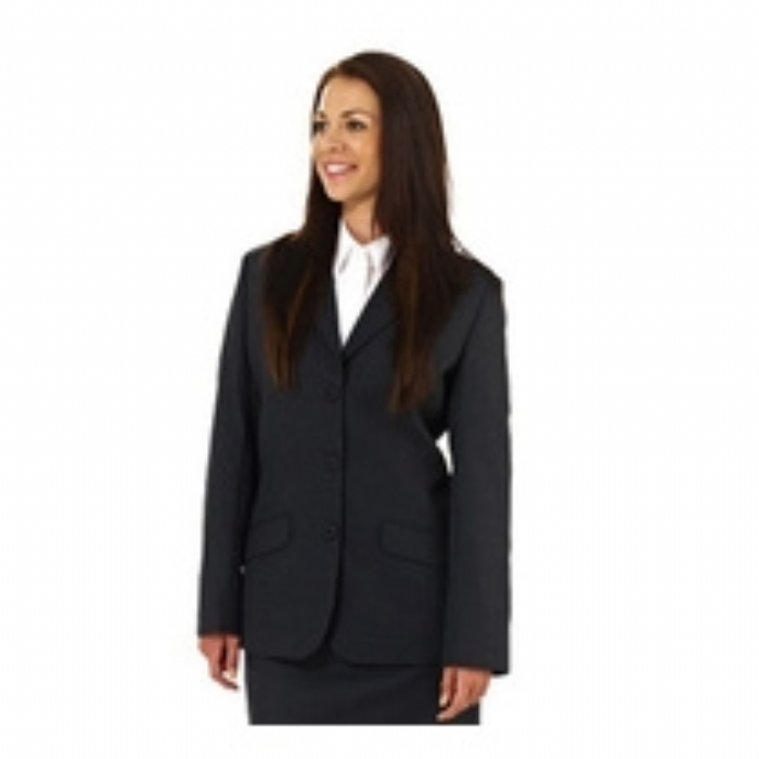 Ladies Bankside Polywool Suit Jacket - Black Size 8-20