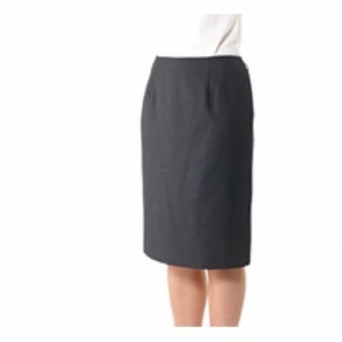 Ladies Astoria Polywool Suit Skirt - Charcoal Grey