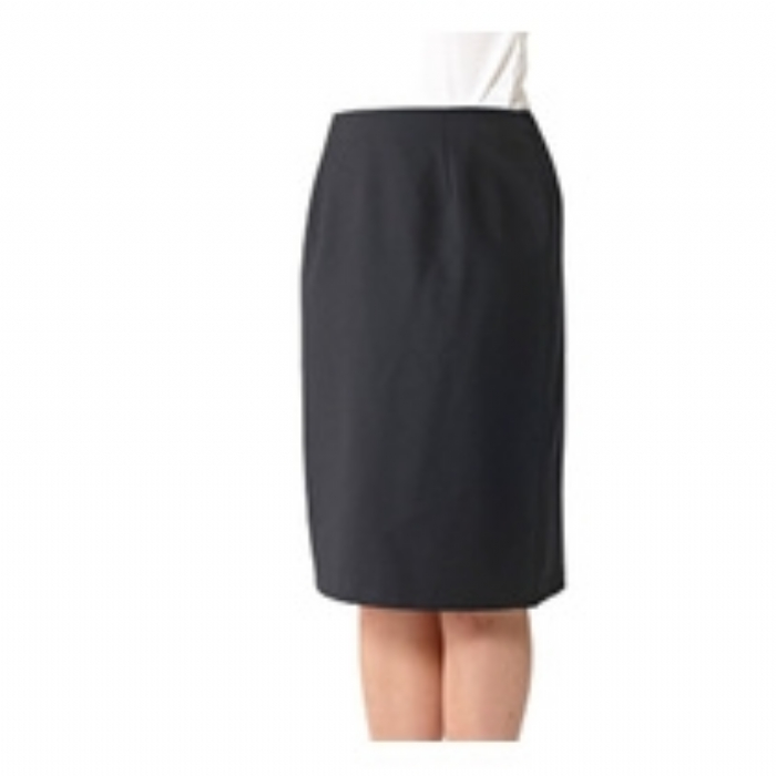 Ladies Astoria Polywool Suit Skirt - Black