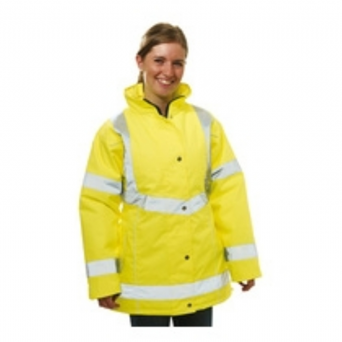Keep Safe Ladies EN471 High Visibility Safety Jacket - HiVis Yellow