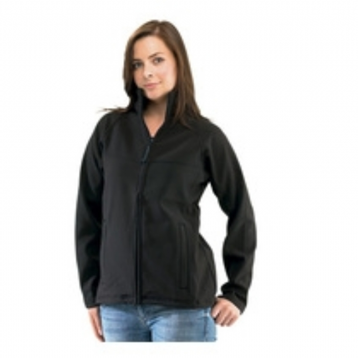 Regatta Uproar Interactive Softshell Ladies Jacket - Black/Grey