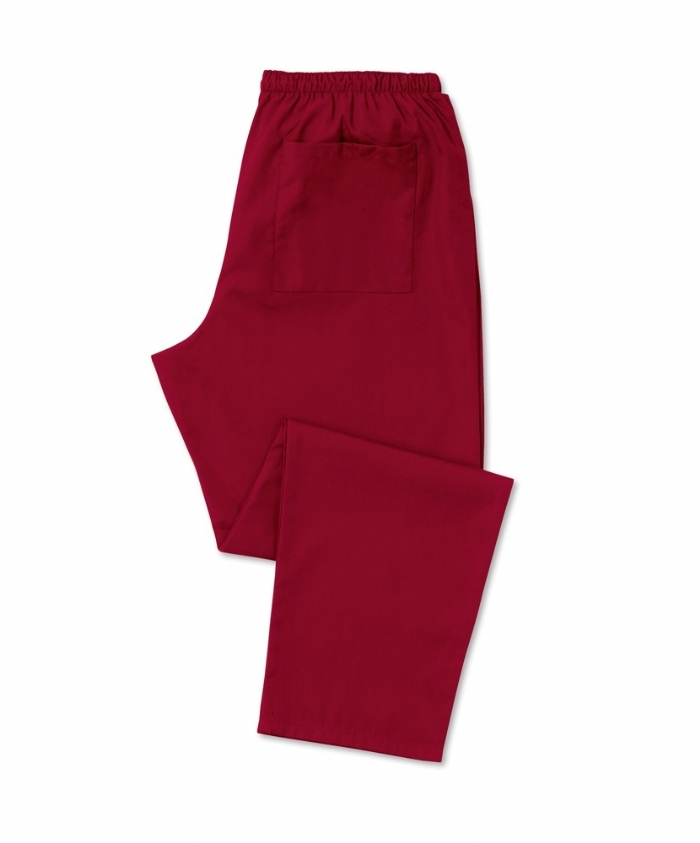 Scrub Trousers Burgundy