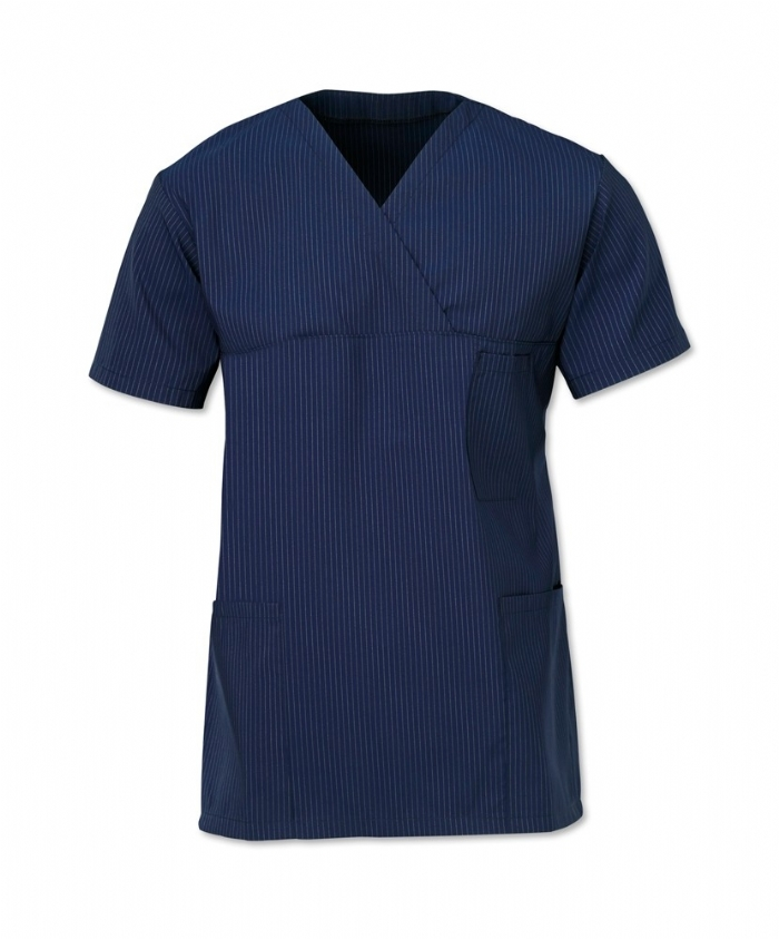 Anti-microbial Scrub Tunic Sailor Navy/Silver