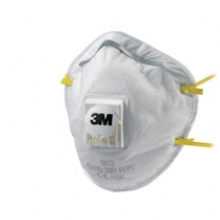 3M 8812 FFP1 Cup-Shaped Valved Dust/Mist Respirator