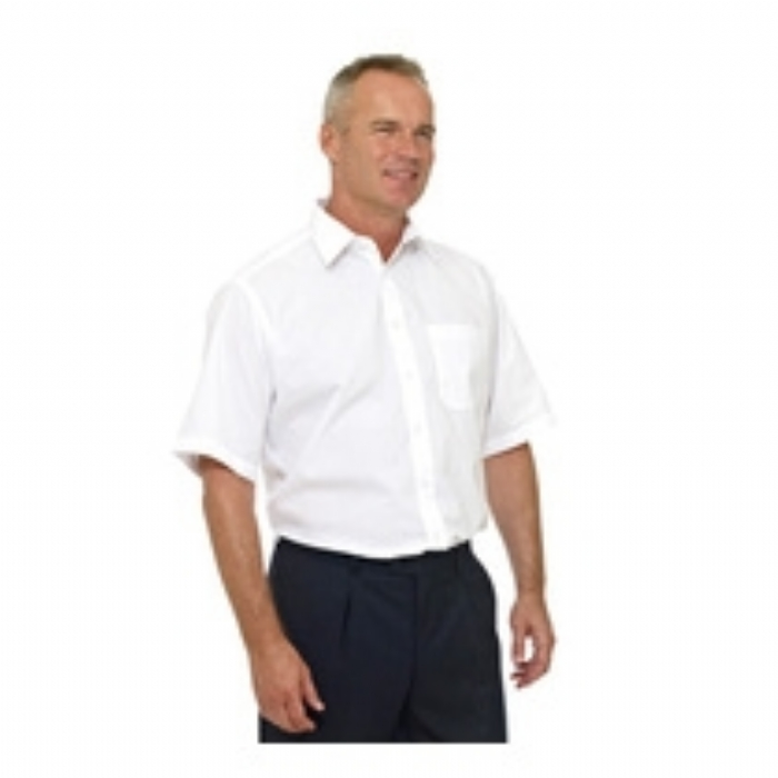 Double Two Classic Short Sleeved Easy Fit Shirt  WHITE