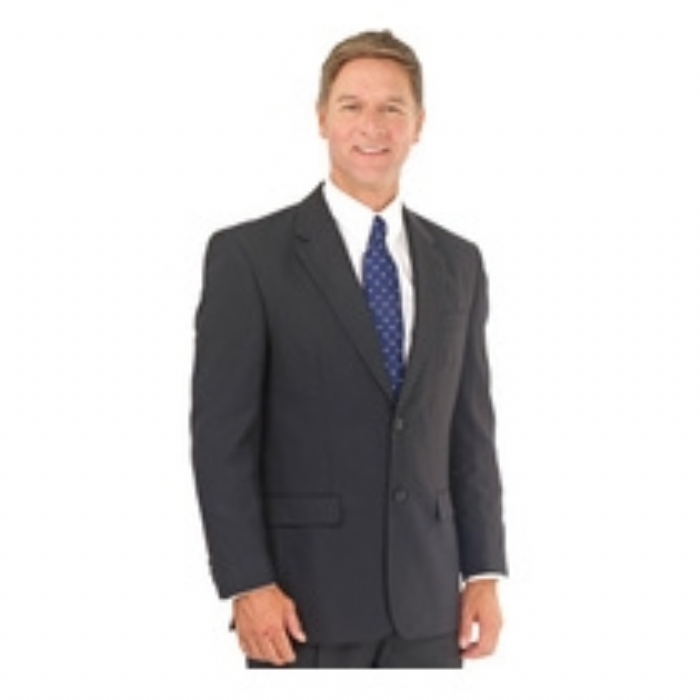 Dockland Polywool Single Breast Suit Jacket - BLACK