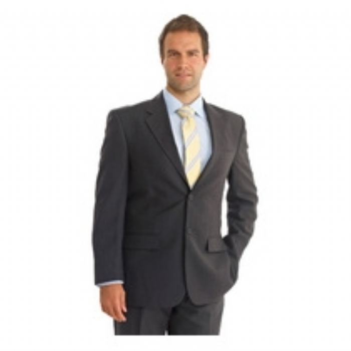 Dockland Polywool Single Breast Suit Jacket - GREY