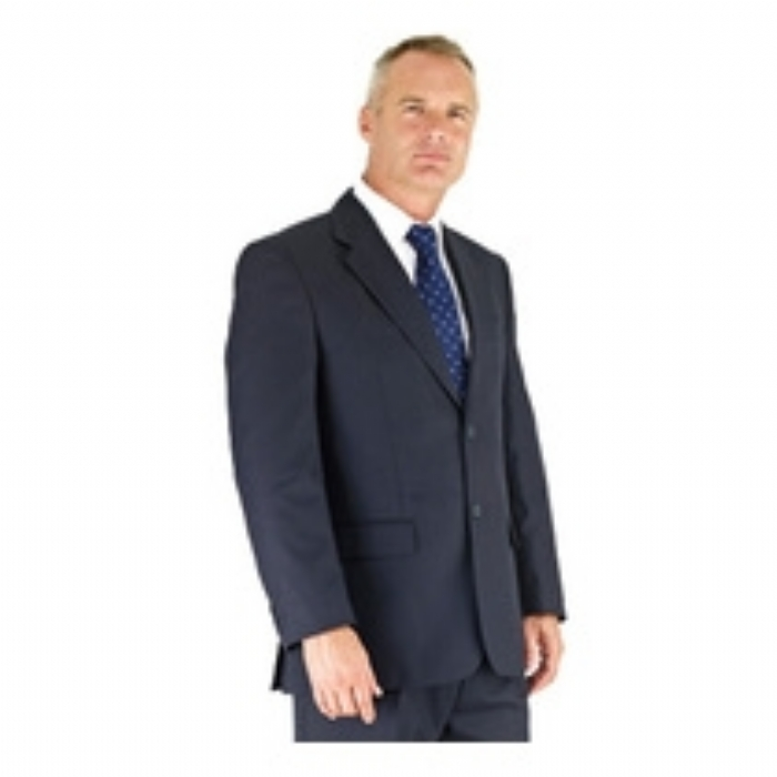 Dockland Polywool Single Breast Suit Jacket - NAVY