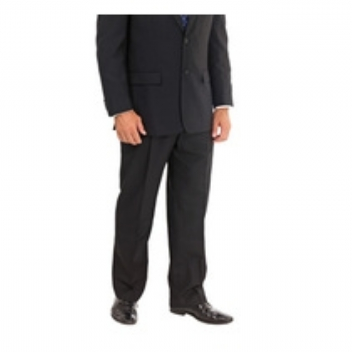 Trousers Mens Principle Polywool Regular Leg Black