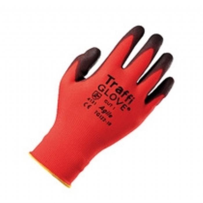 TG122 Agile PU Coated Red TraffiGlove
