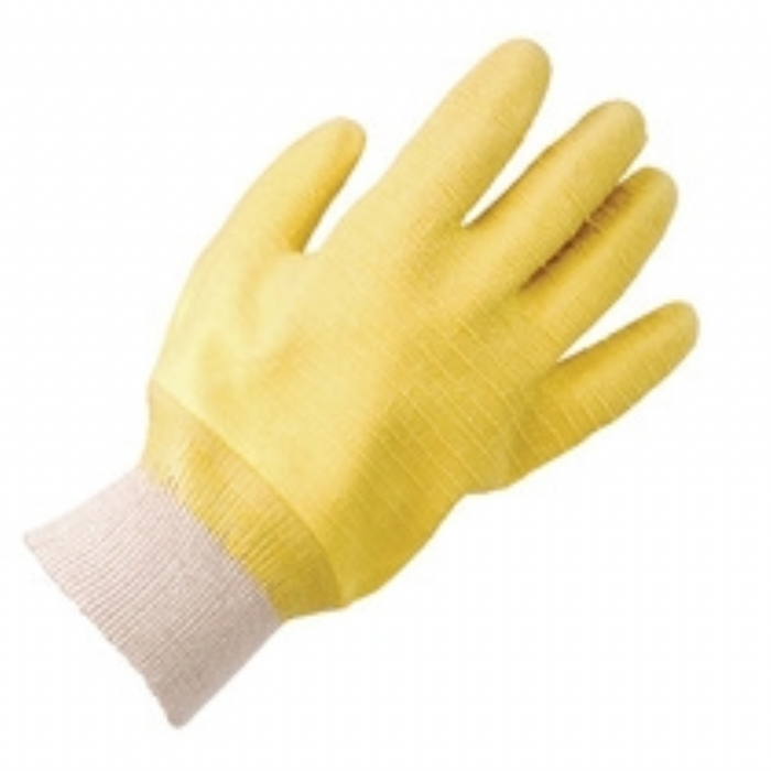 Keep Safe Fully Coated Latex Knitwrist Glove