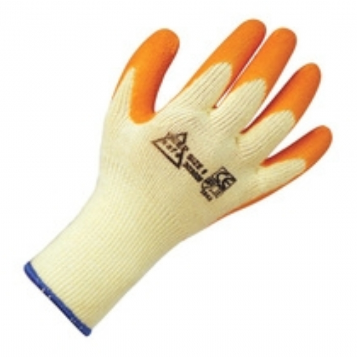 Keep Safe Grip Latex Coated Glove - Yellow