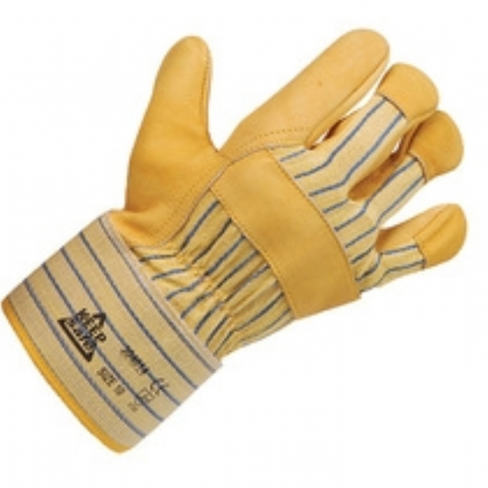 Keep Safe Canadian Rigger Style Yellow Hide Palm Glove