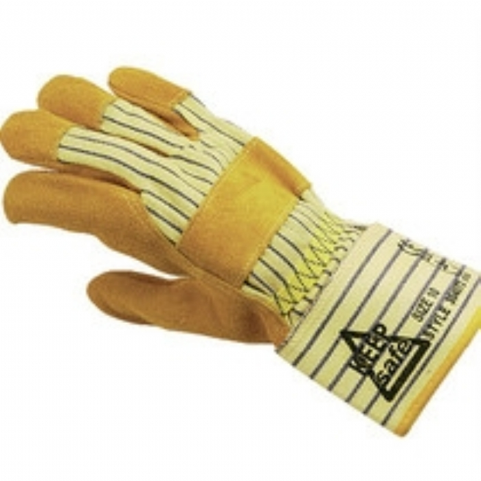Keep Safe 'Gold' Canadian Rigger Style Chrome Leather Glove