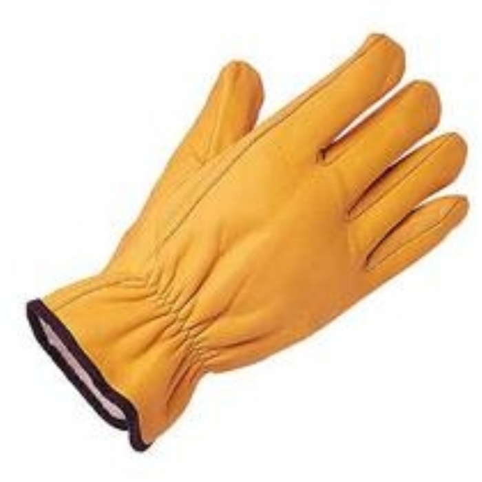 Glove Protective Leather Driving Keep Safe 'Gold' (Lined) Size:Men's