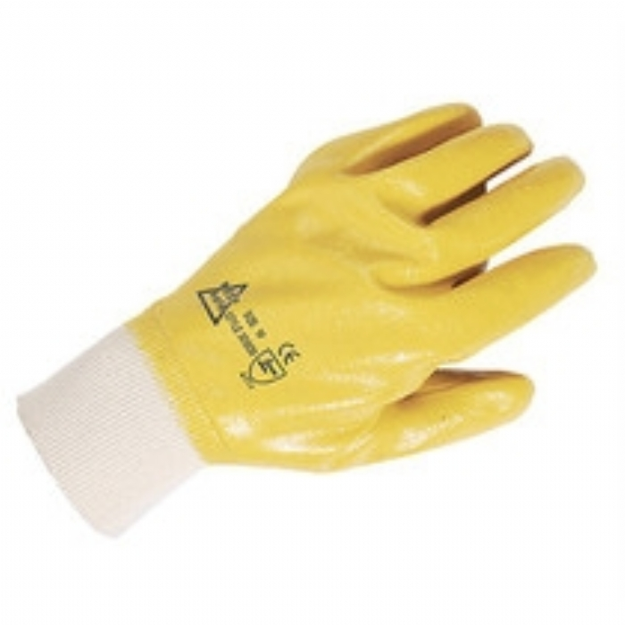 Keep Safe Lightweight Nitrile Fully Coated Glove - Yellow
