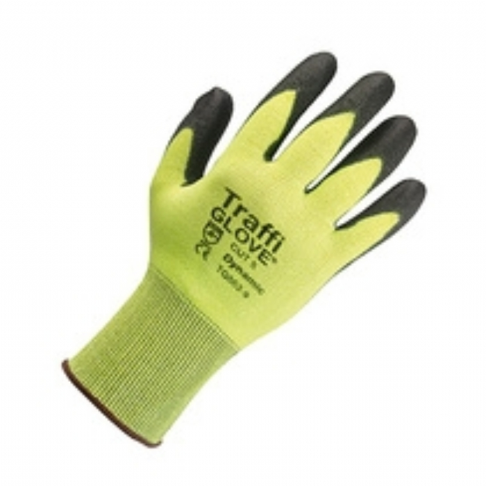 TG562 Dynamic PU Coated Cut Resistant Green TraffiGlove