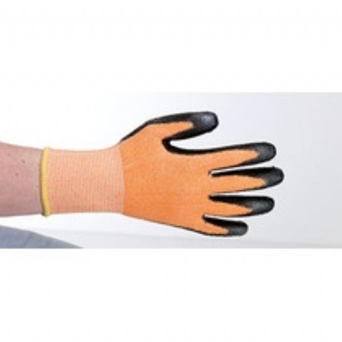 Keep Safe Orange PU Coated Cut Resistant Glove