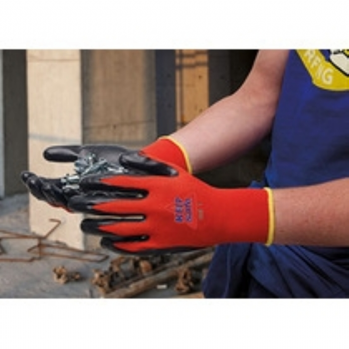 Keep Safe Smooth Nitrile Coated Cut 1 Red Glove