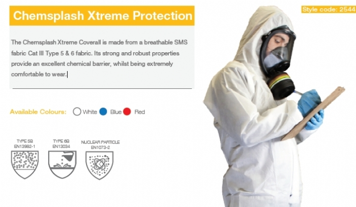 CHEMSPLASH EXTREME SMS Coverall