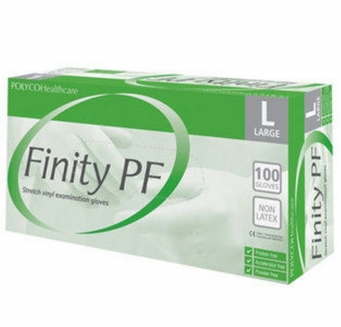 Finity PF / Finity PF 30 Stretch Vinyl Synthetic Polymer Disposable Glove - Powder Free