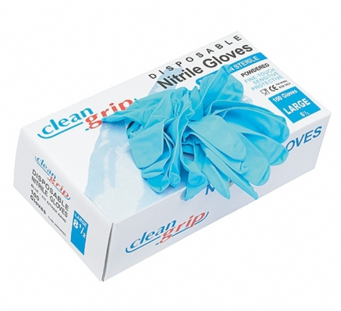 Clean Grip Disposable Nitrile Powdered Gloves