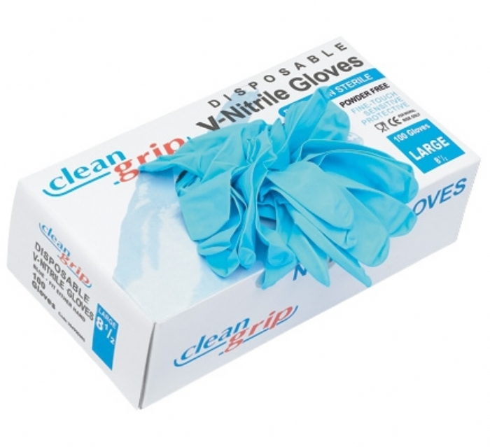 Clean Grip Disposable V-Nitrile Powder Free Gloves