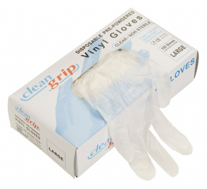 Clean Grip Vinyl Powdered Disposable Gloves