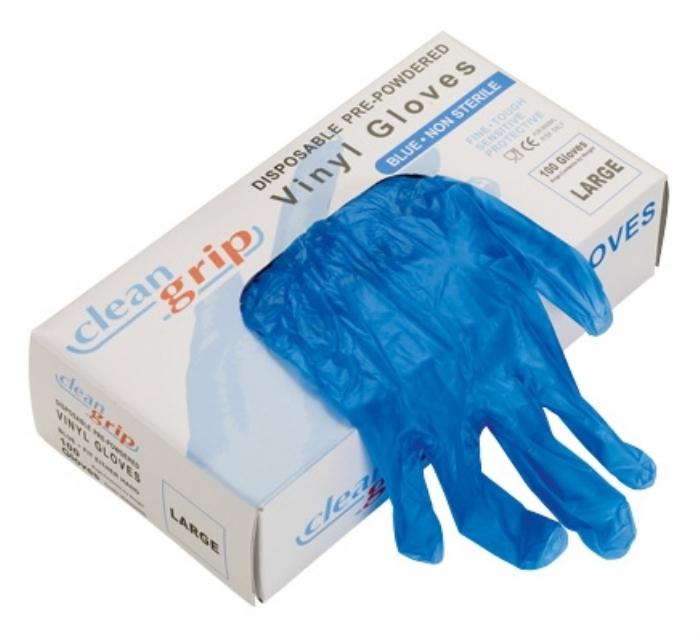Clean Grip Vinyl Powdered Disposable Gloves