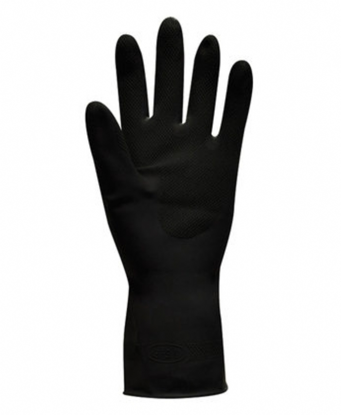 Jet - Heavy Duty Natural Rubber Glove - Flock Lined