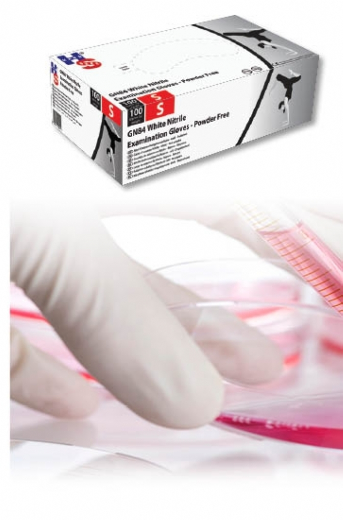 GN84 White Powder Free - Ultimate Nitrile Gloves