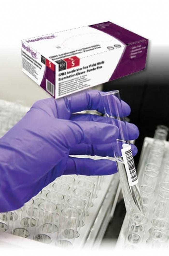 GN85 HPC Violet Powder Free NItrile Gloves