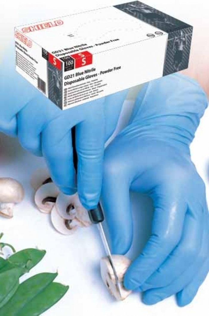 GD21 Blue Powder Free - Plus Nitrile Gloves